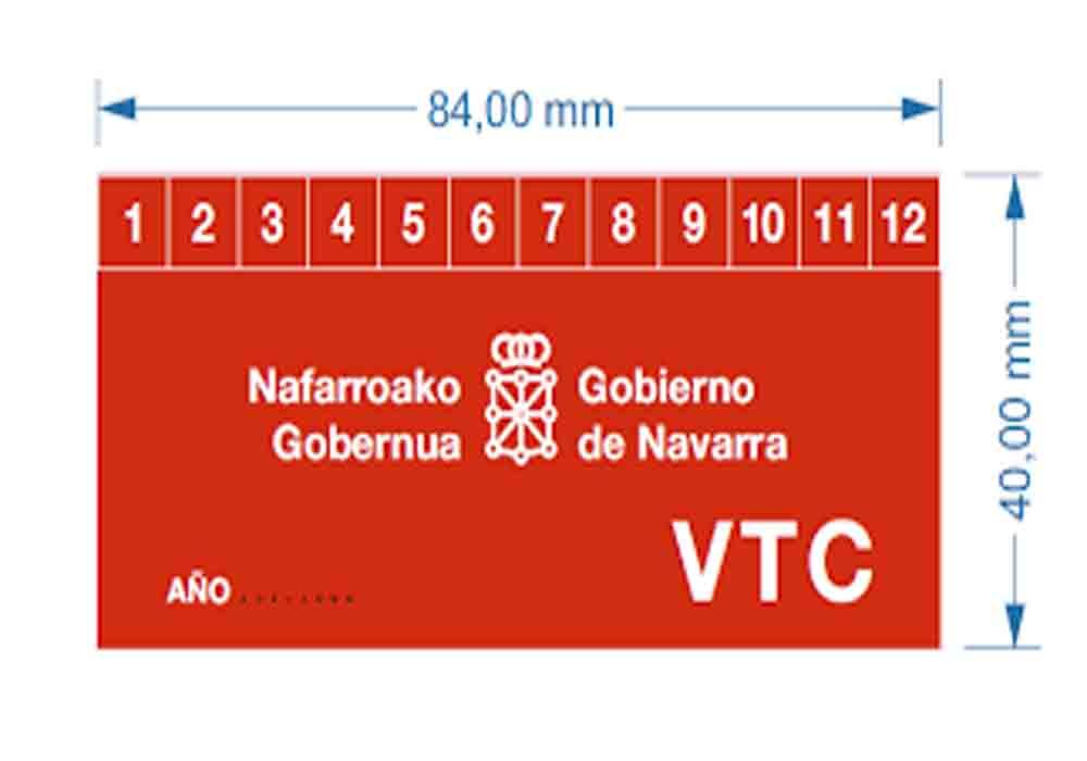 Distintivo obligatorio para los VTC en Navarra
