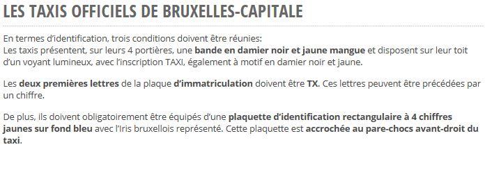 Traición al sector del taxi en Bruselas