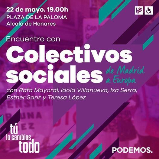 Tito Álvarez en Alcalá de Henares en el Encuentro con Colectivos Sociales