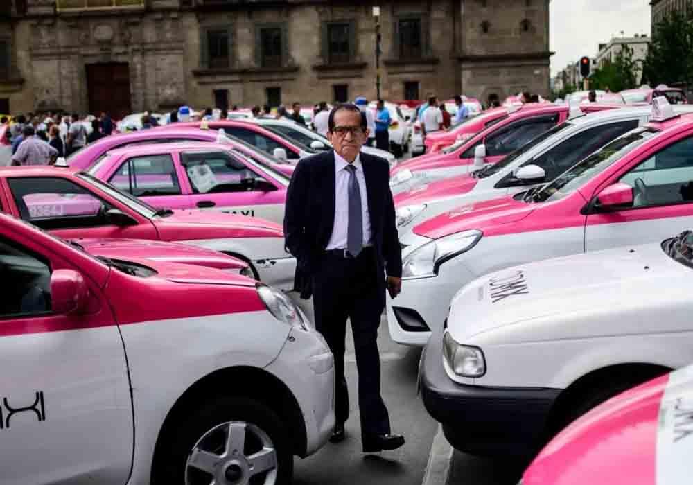 Los taxistas de Ciudad de Mexico toman las calles