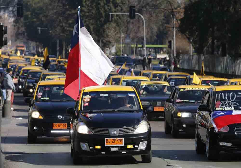 Los taxistas de Concepción protestan contra Cabify y Uber