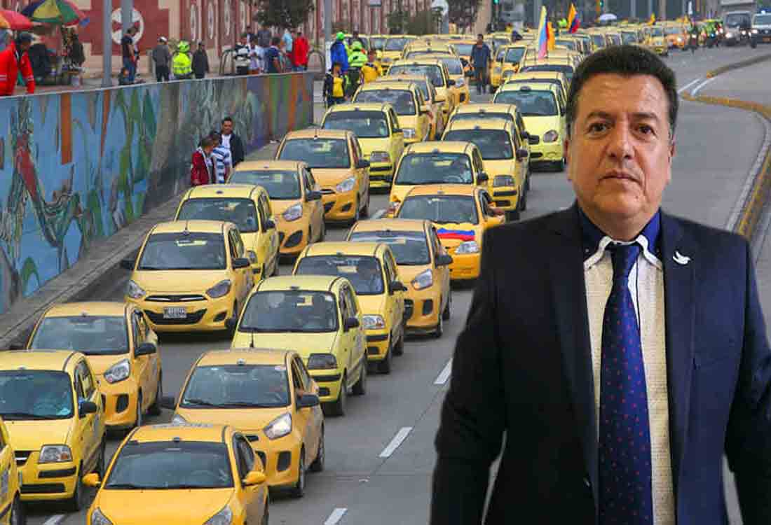 Vuelven a protestar los taxistas contra Uber en Bogotá
