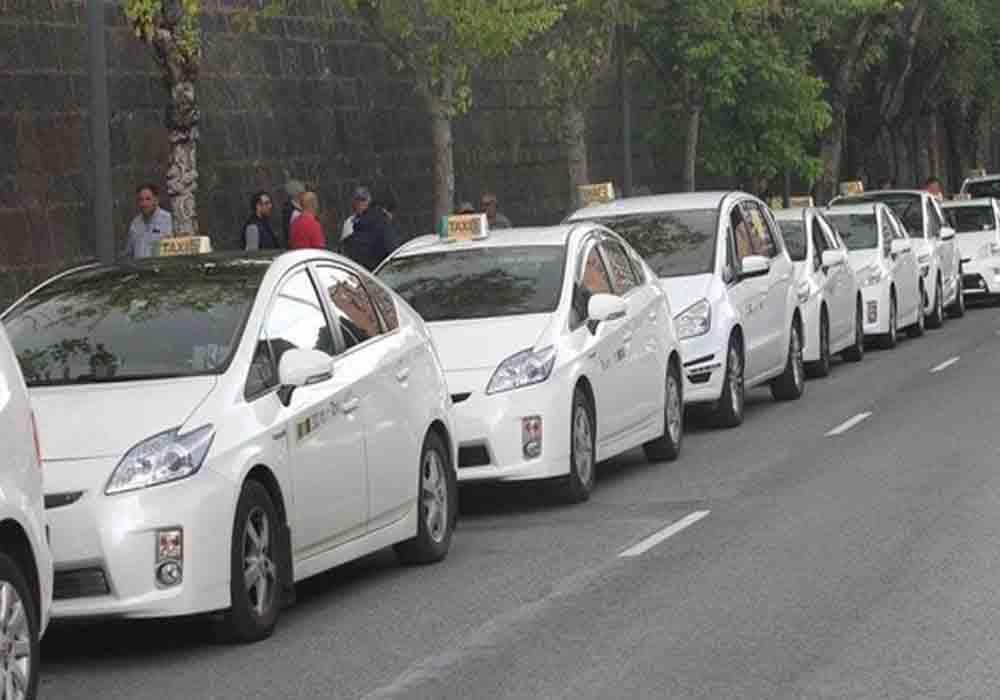 El taxi de Pamplona contra las agresiones sexistas en Sanfermines
