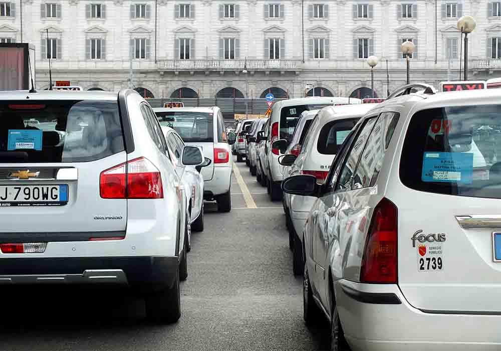 Huelga del Taxi en Italia por la inacción del gobierno