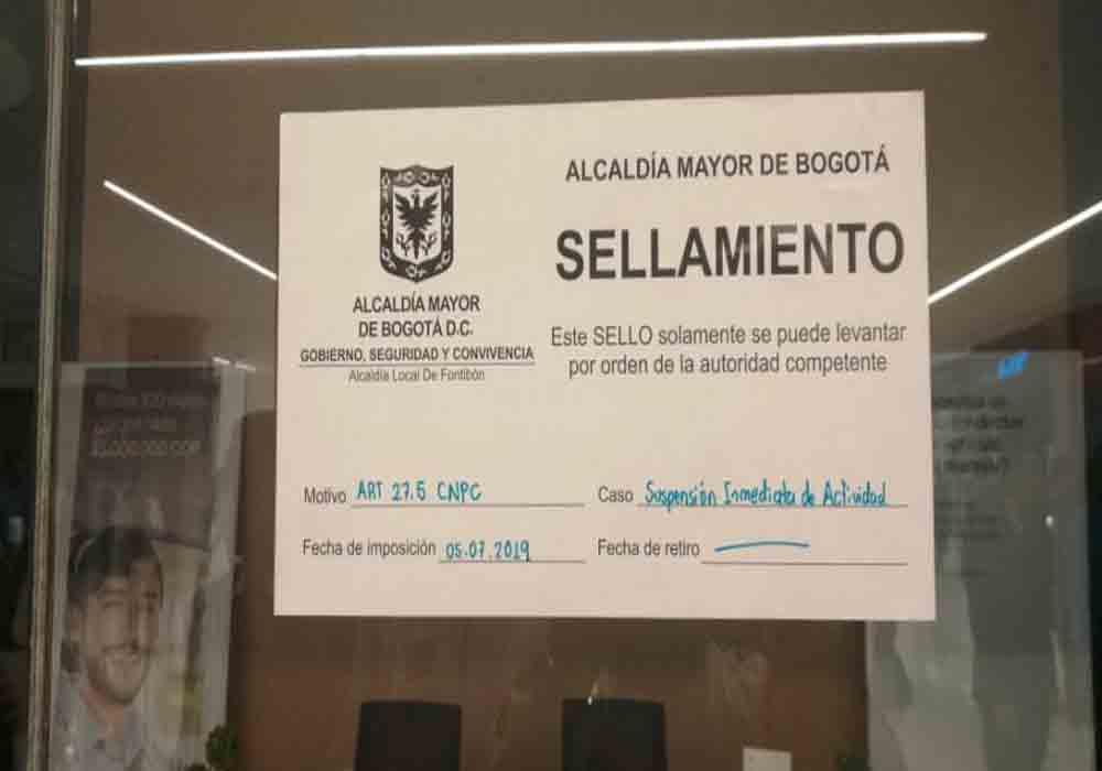 Precintadas las oficinas de Uber en Bogotá