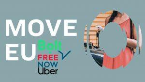 Bolt, Uber y Free Now crean en Bruselas el lobby Move EU, para derribar al taxi