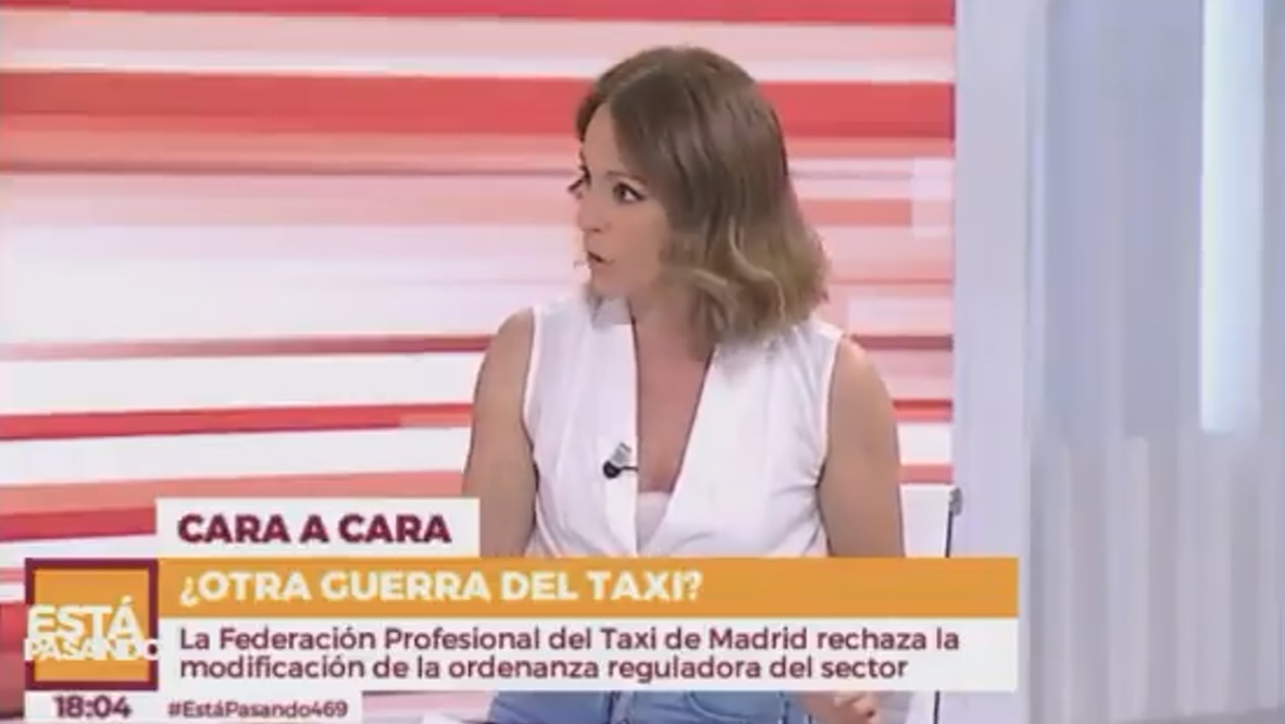 Un Taxista de Madrid desmonta a una colaboradora de Jimenéz Losantos